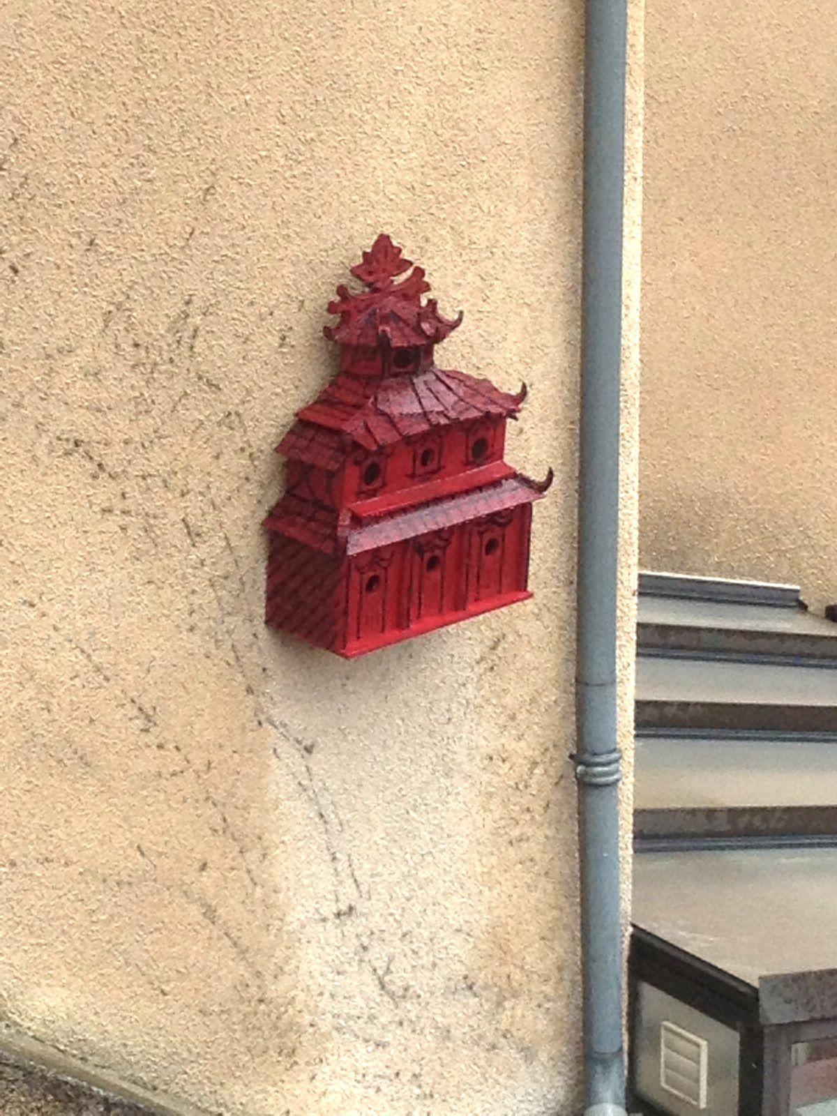 Auvergne oiseau nichoirs porte rue