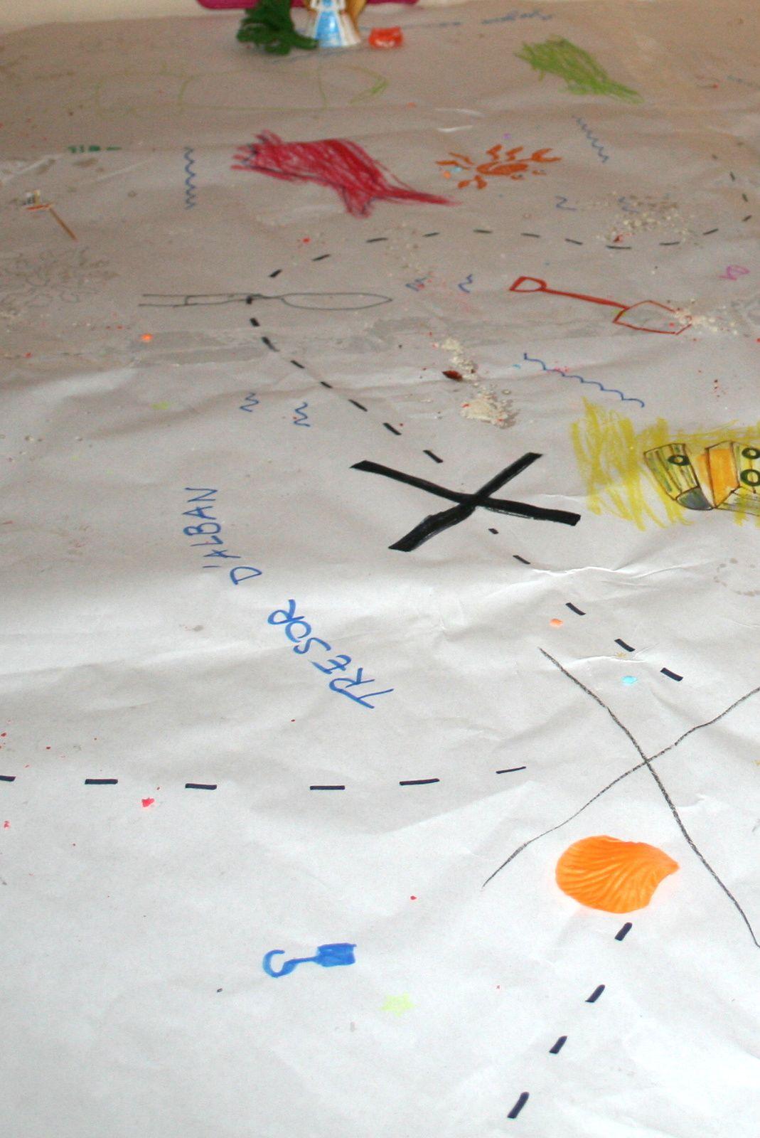 Les messages secrets pour trouver les trésors !   Anniversaire, fête d'enfants la chasse au trésor marin.