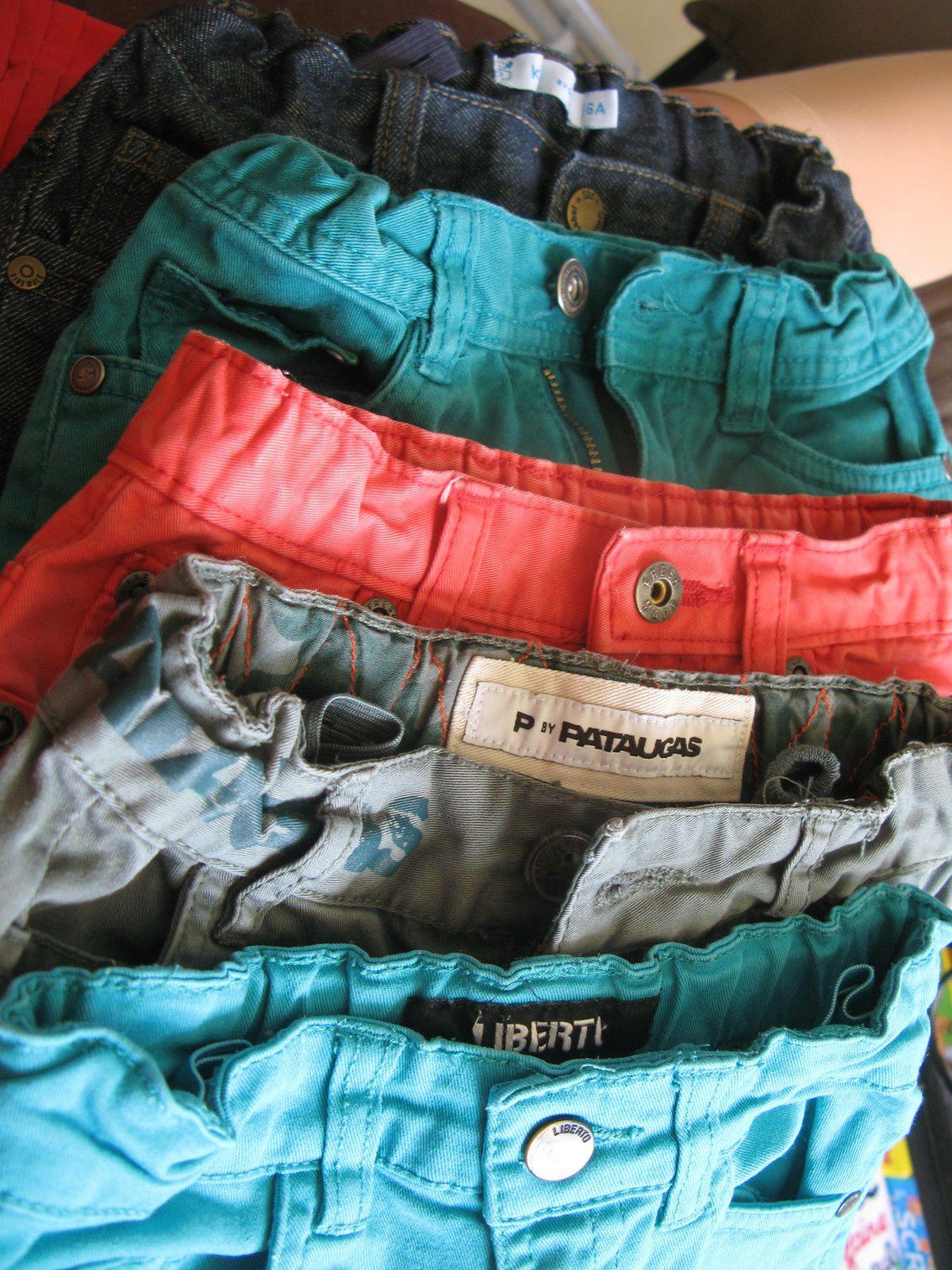 faire des bermudas shorts avec des pantalons - couture charlotteblabla