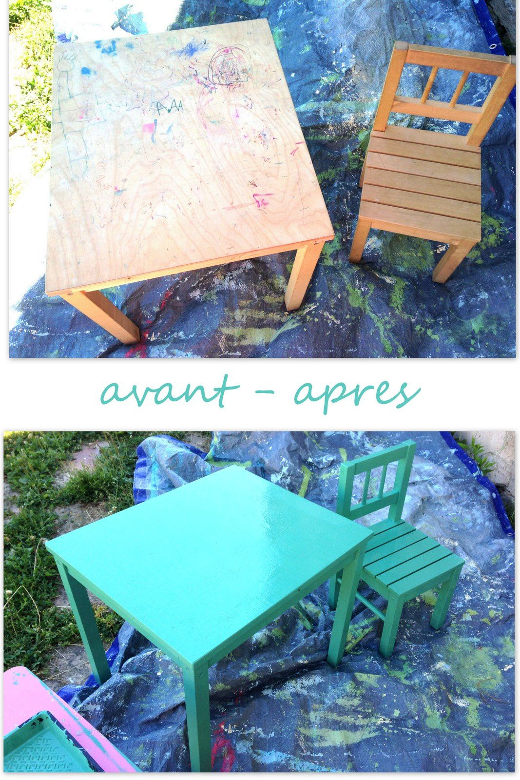 Table Et Chaise D Enfant Repeintes Charlotteblabla