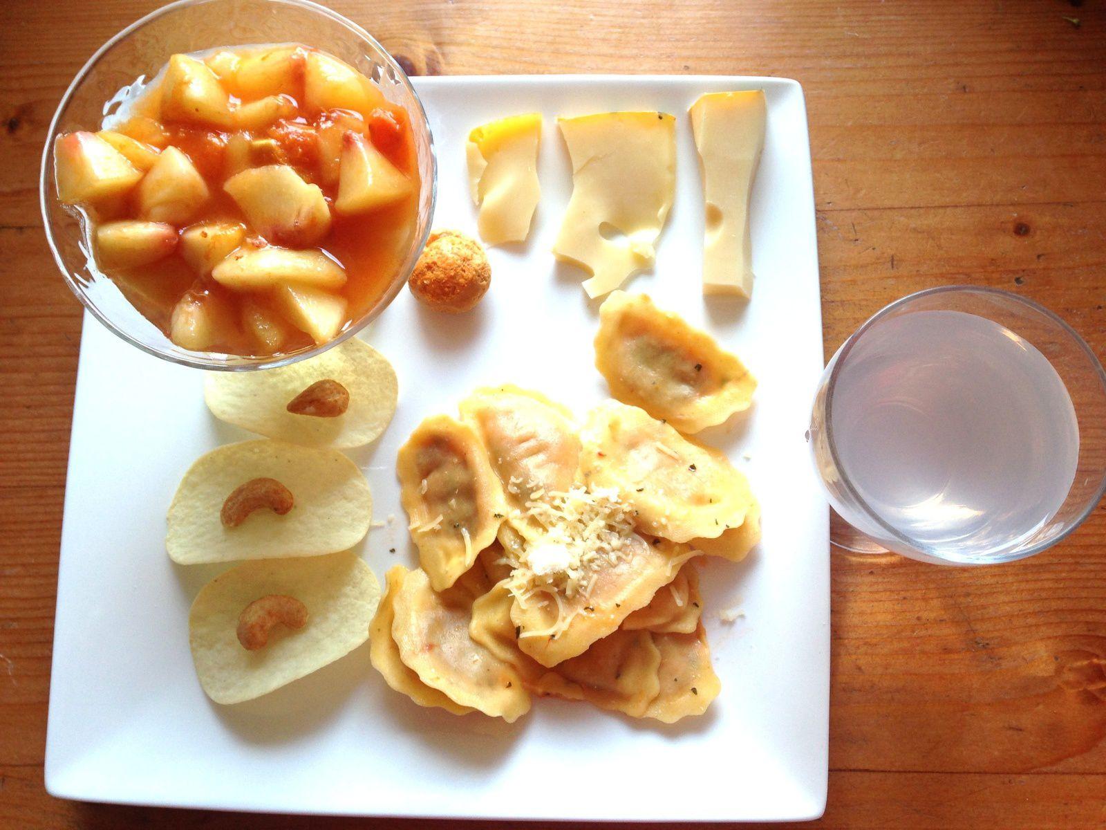 repas chromatique- jaune orange - sur charlotteblabla blog*