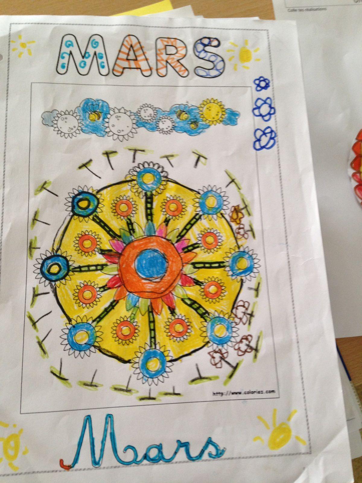 #coloriage de mars #enfant #charlotteblabla blog