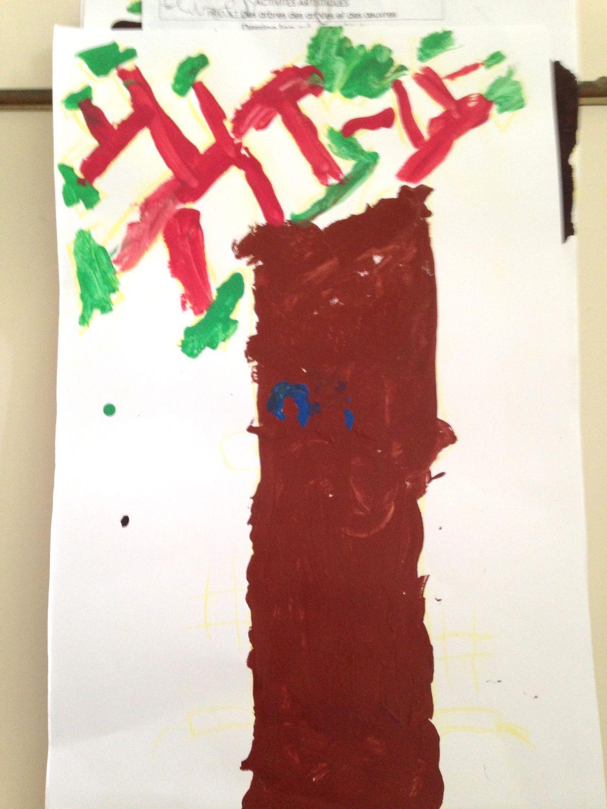 #arbre #peinture #enfant #charlotteblabla blog