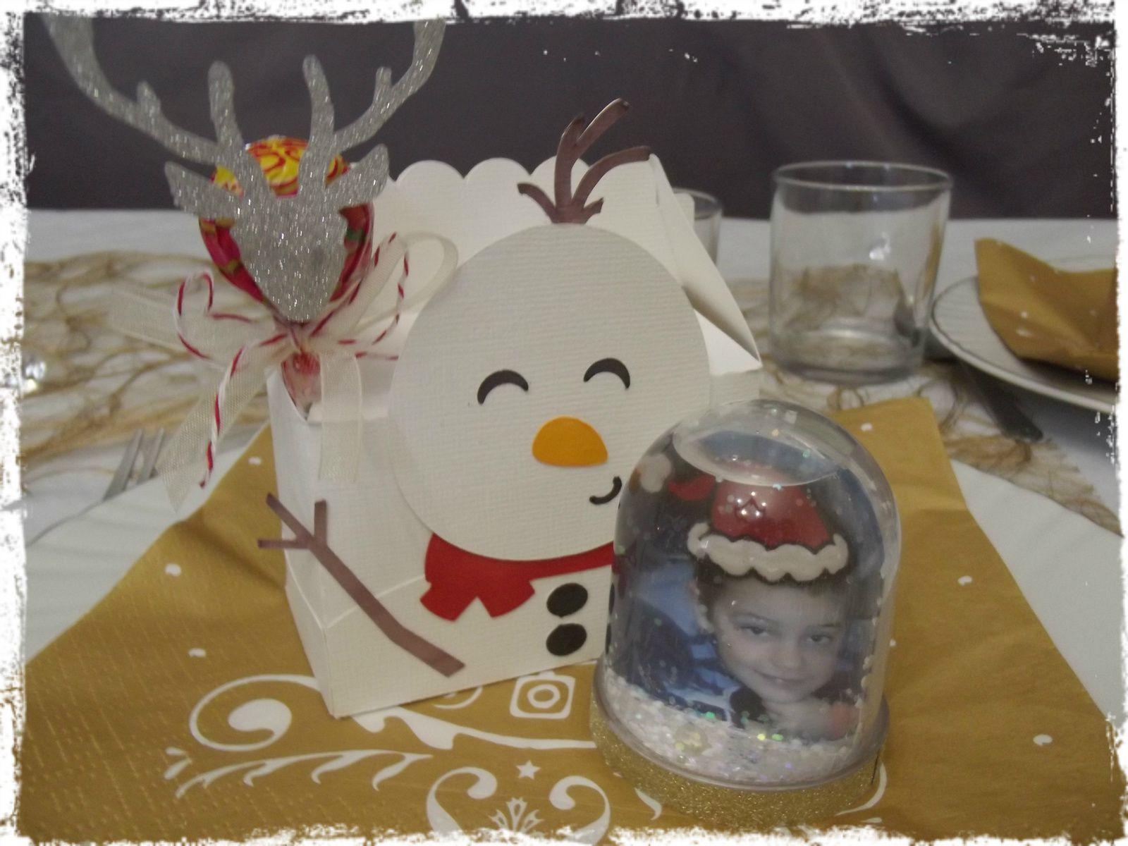 Décoration de la table de Noël !