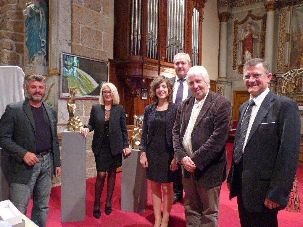De gauche à droite : Jivko Sedlarski, Daisy Dourdet, Marie-Pierre, Jean-Marie Martin, Michel Boedec, Joel Hardy