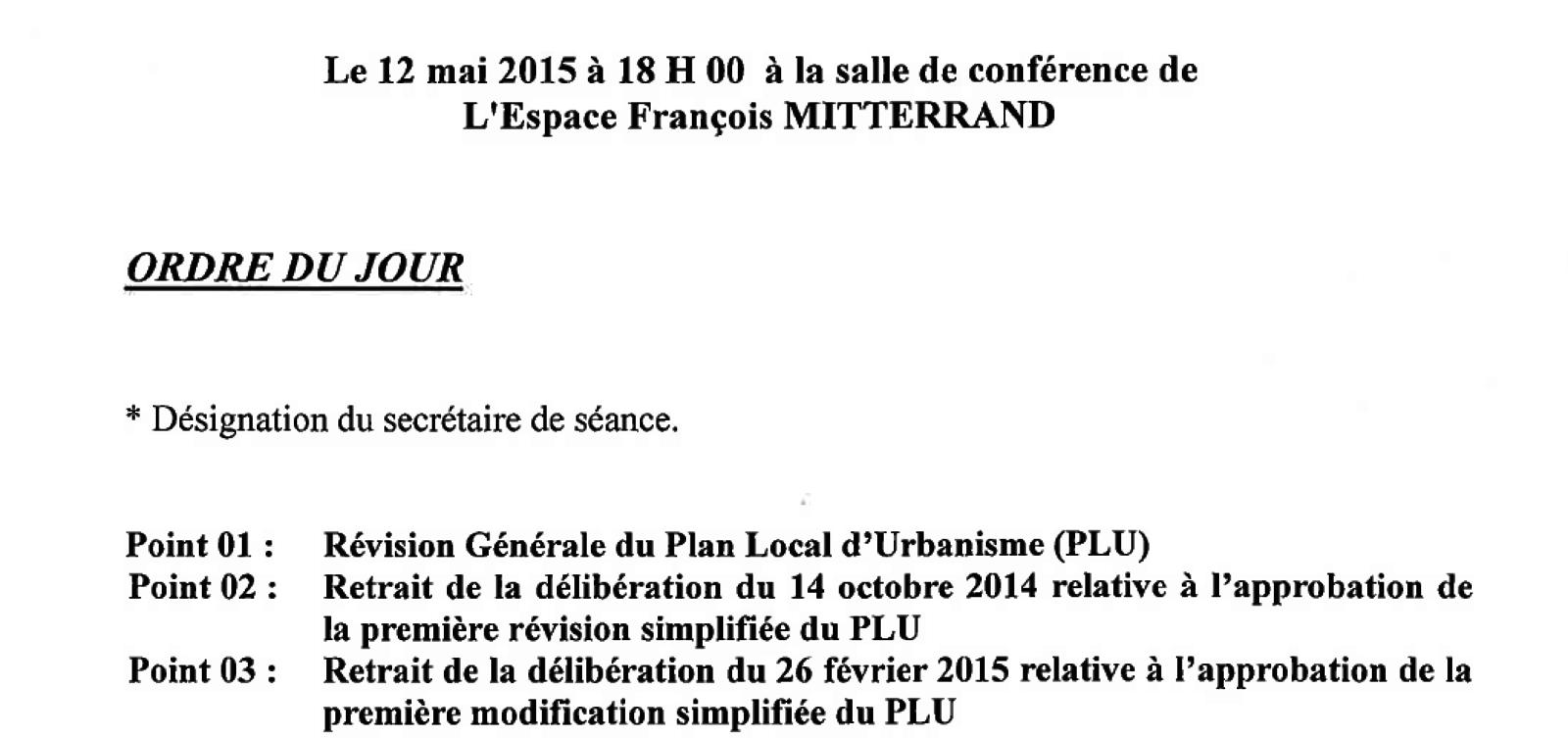 Le Maire recule devant le groupe d'opposition et retire les deux premières procédures du PLU