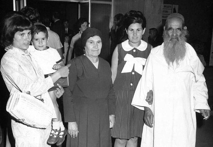 La Famille Cohen de Tiznit à leur arrivée au Canada.