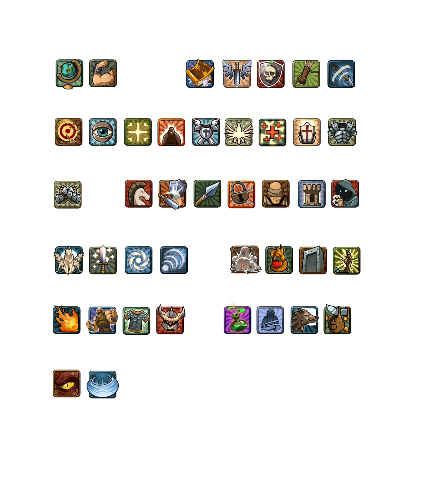 Icons for ECG on Lionheart