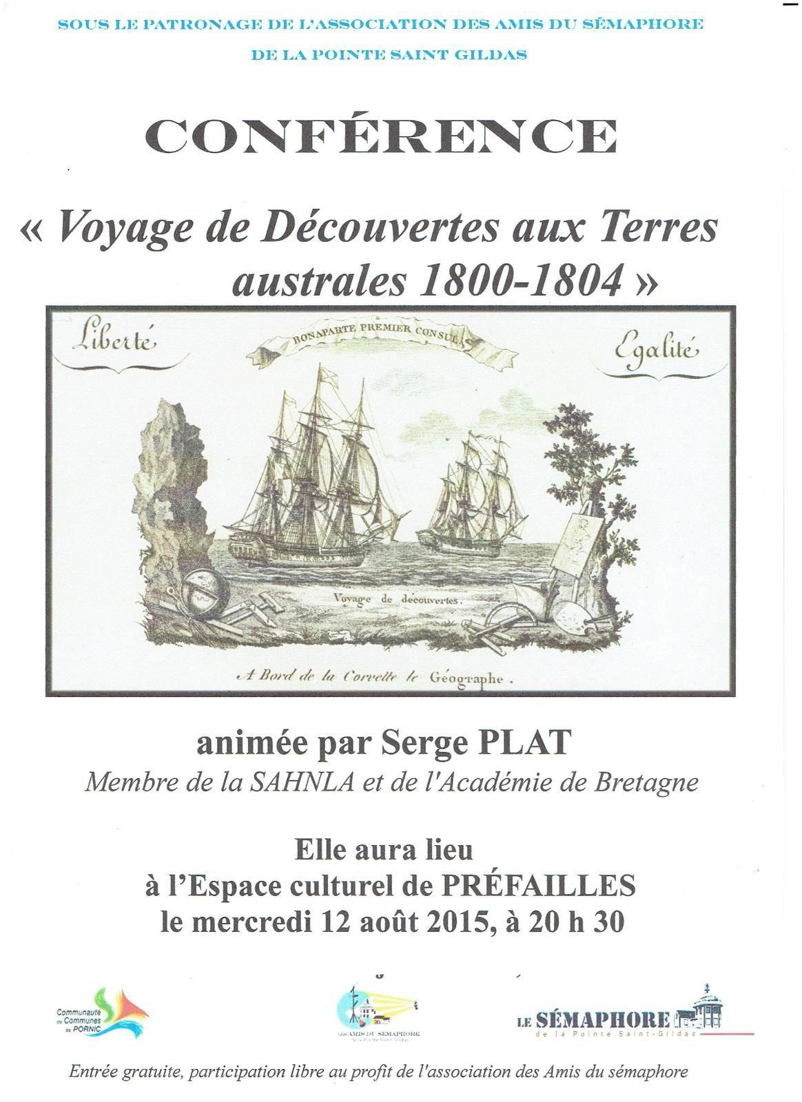 PREFAILLES : &quot&#x3B;VOYAGE DE DECOUVERTES AUX TERRES AUSTRALES 1800-1804&quot&#x3B;