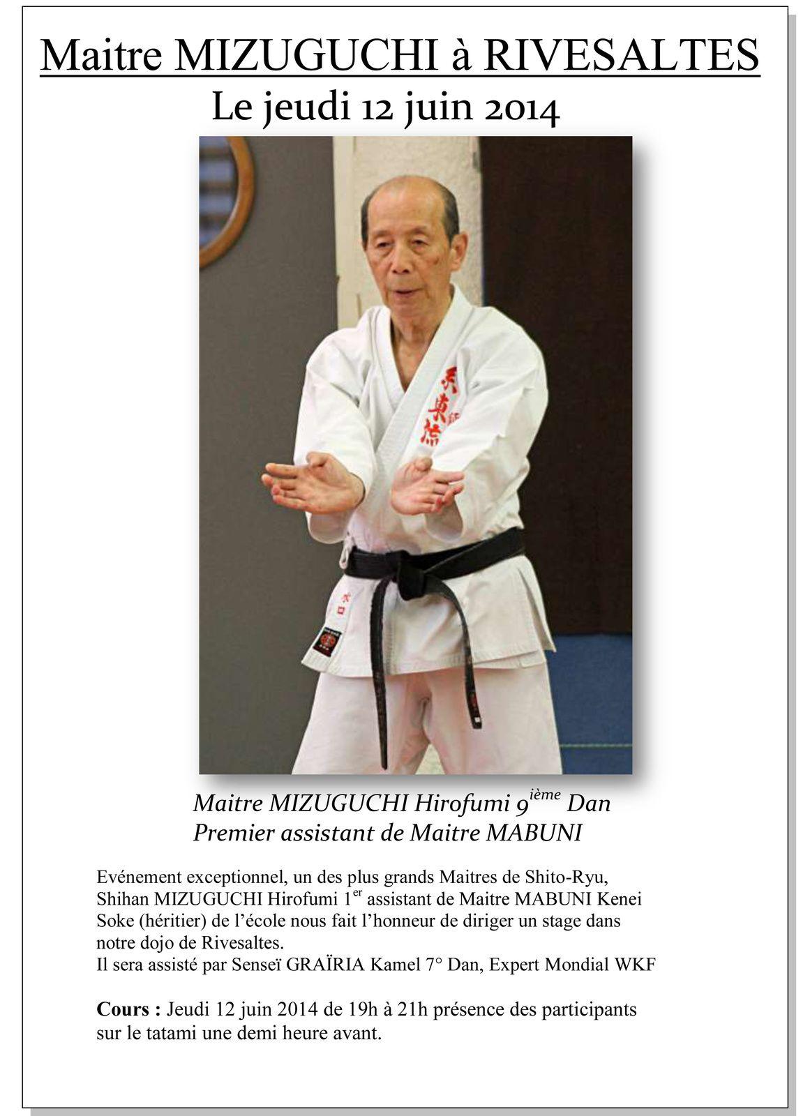 Maitre MIZUGUCHI Hirofumi 9° Dan à Rivesaltes