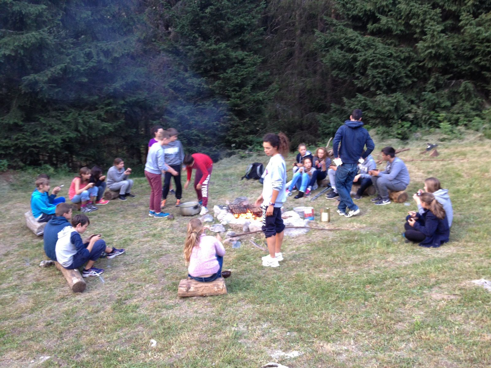 Les Grands: direction le camping
