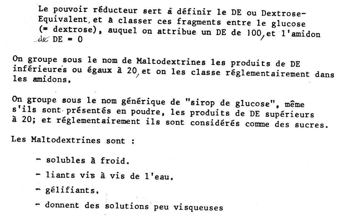 rôle sirop de glucose