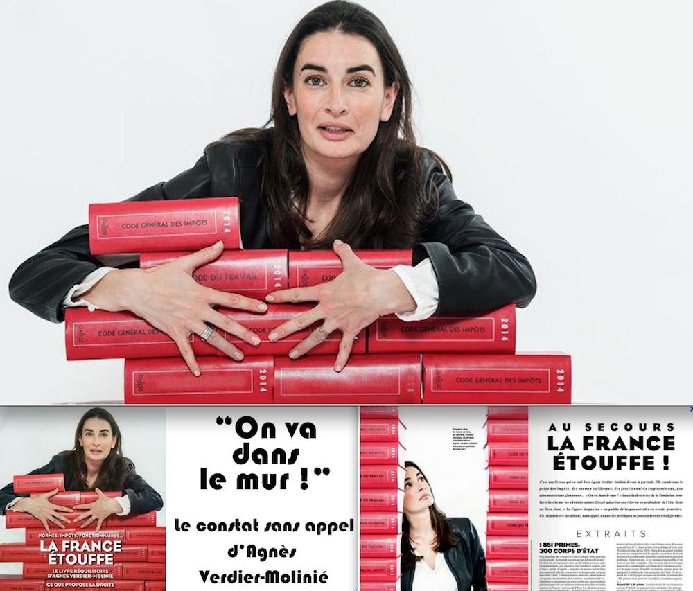 Agnès Verdier-Molinié, directrice de la Fondation IFRAP, lobby ultralibéral qui s'active pour parvenir à un détricotage de notre Droit du travail.