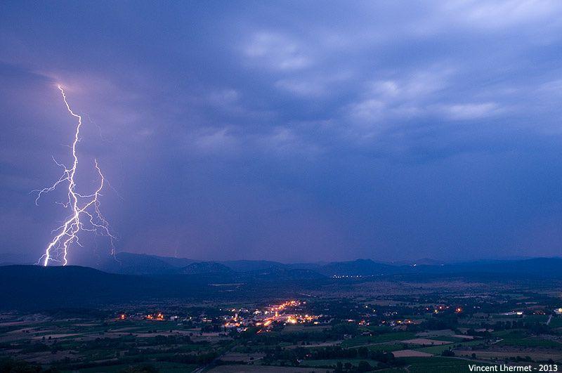 Folle soirée d'orages sur les Cévennes gardoises le 8 juillet 2013