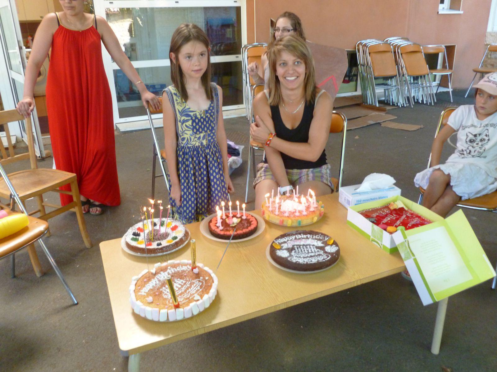 Vendredi 2 août 2013 : anniversaires de Marion (22 ans) et de Léna (7 ans)