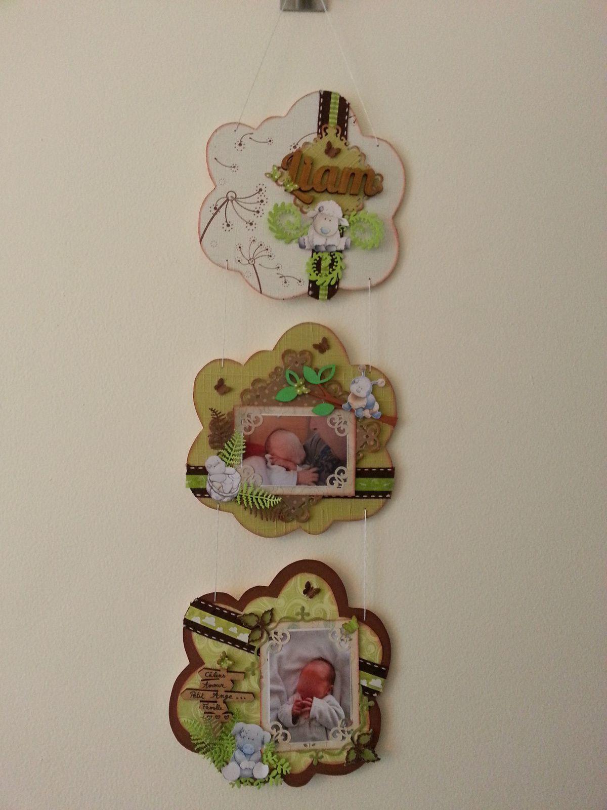 Commande triptyque pour la chambre d'un baby dont le thème est la nature et les animaux !!