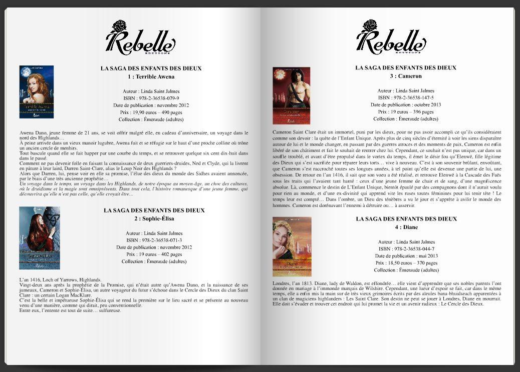 Le catalogue des romans Rebelle Éditions. Libraires, faites-vous plaisir !