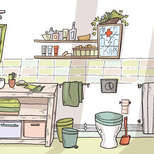LA MAISON ECONOME : la salle de bain