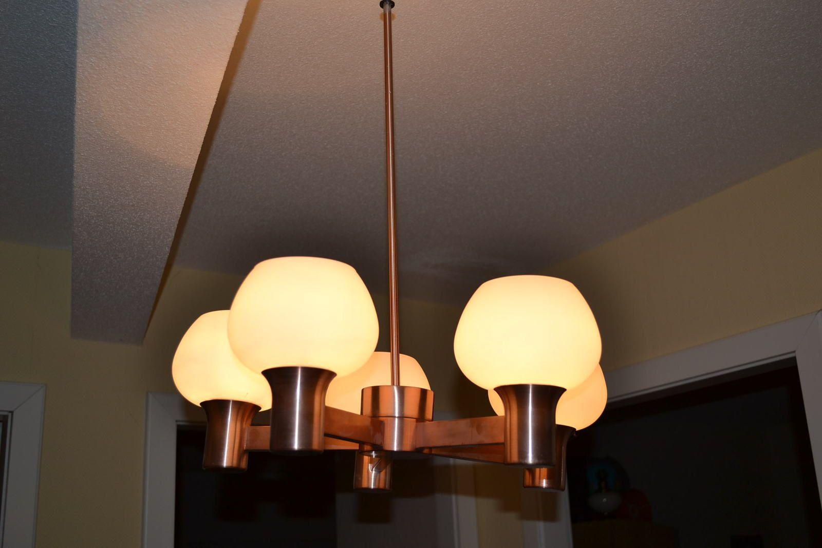 lustre vintage 5 branches art et vintage. Black Bedroom Furniture Sets. Home Design Ideas