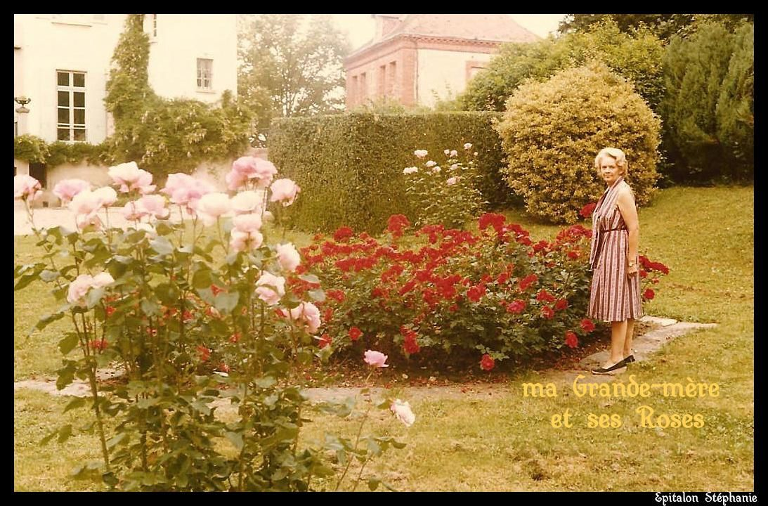 ma grande-mère et ses roses