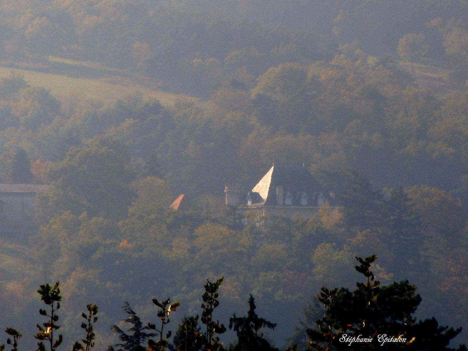 """vue sur le château de mon enfance """"La Tuilière"""" (voir l'article sur """"La Tuilière"""" catégorie château 42)"""