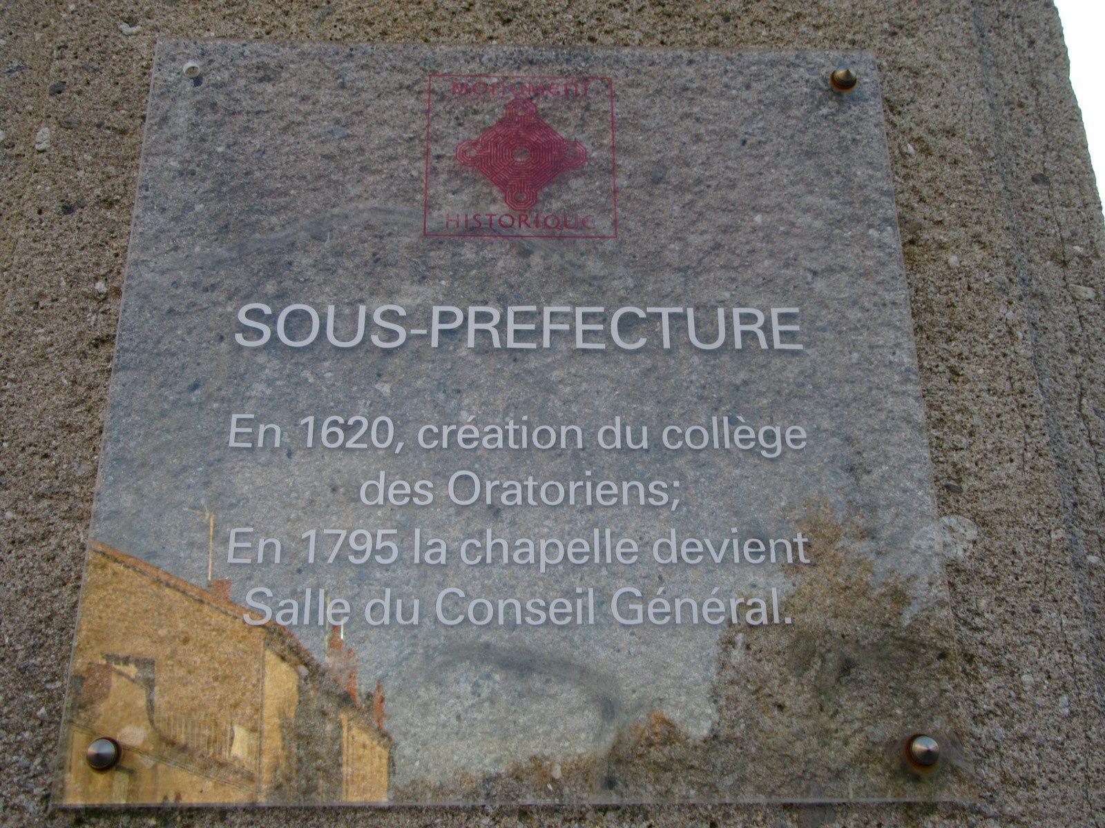 Sous Préfecture de Montbrison