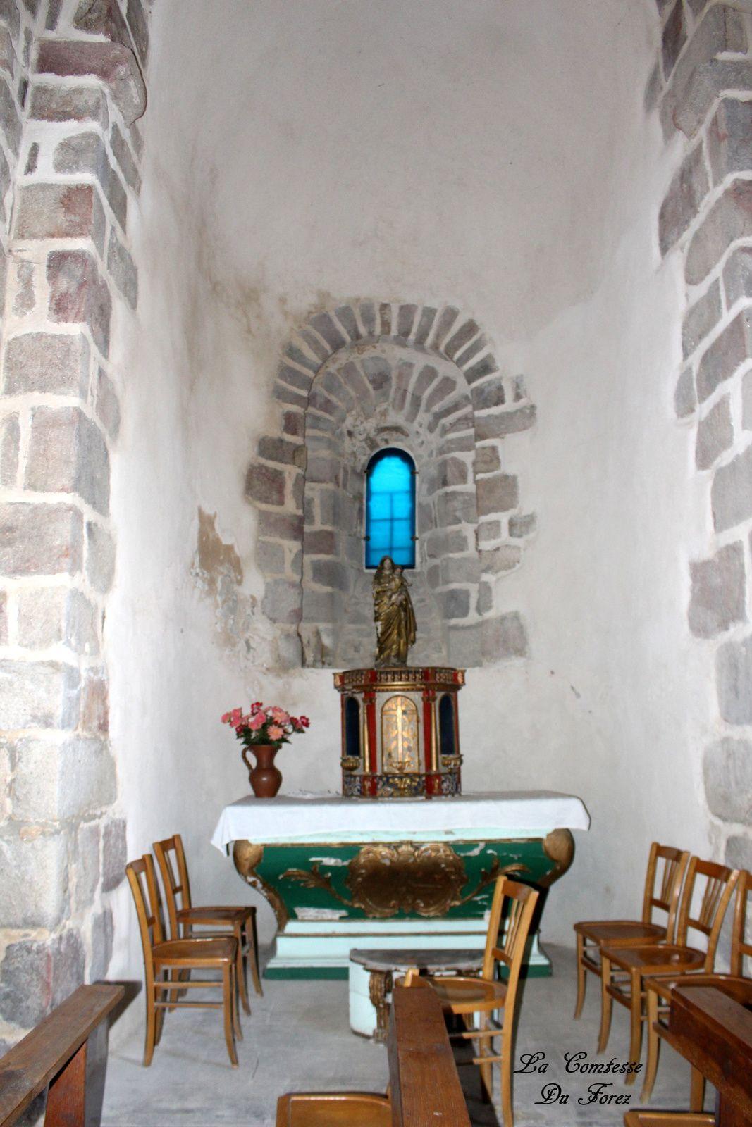 L'Eglise Saint-Didier sur la commune de Chalain-d'Uzore (42600, Loire)