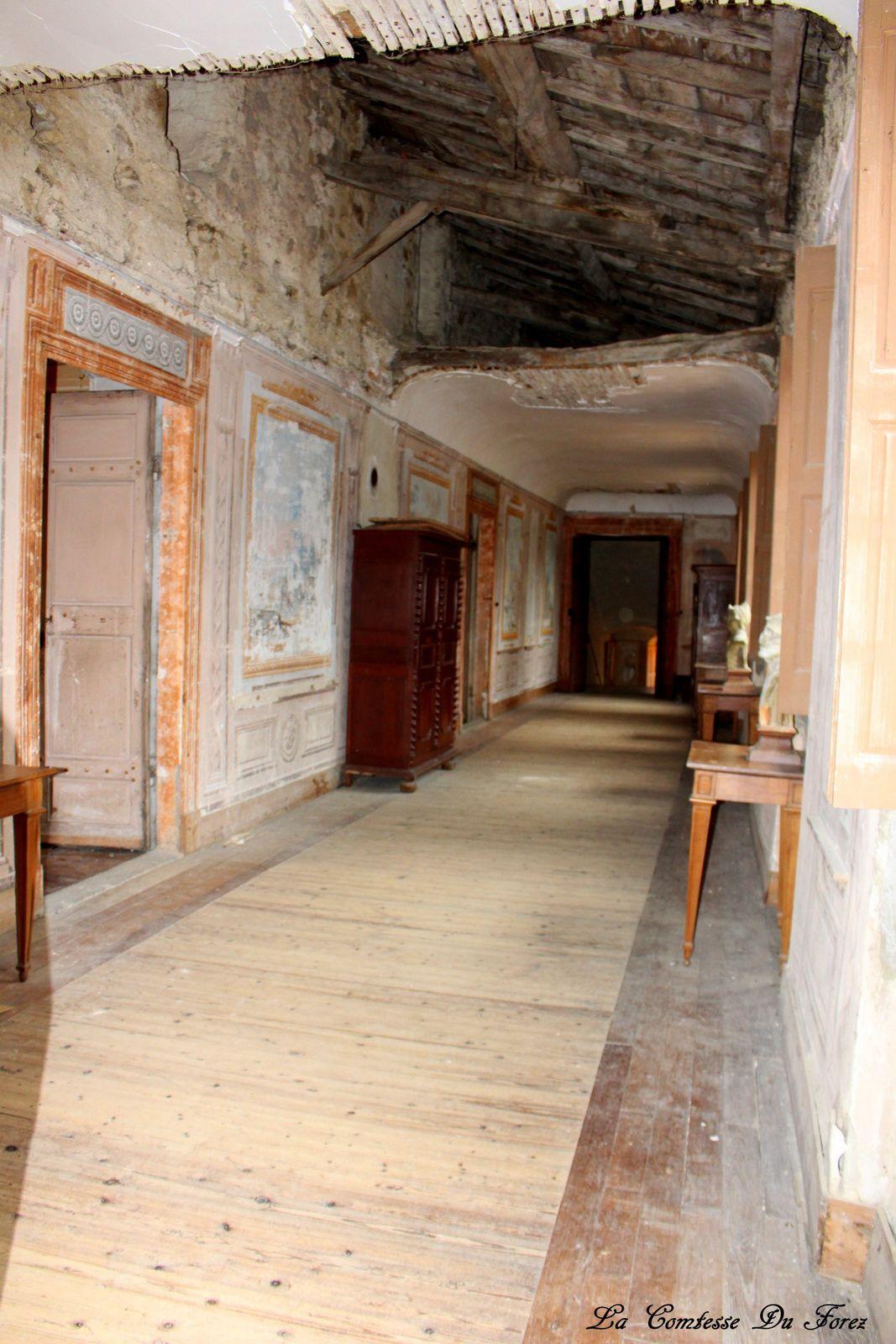 cette galerie aurait besoin rapidement d'être sauvée car le plafond c'est écroulé en son centre et les fresques s'abîment.