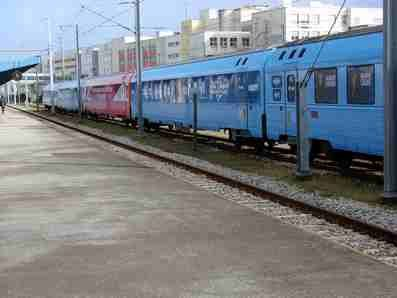 Le train bleu Europe 1 à Lorient