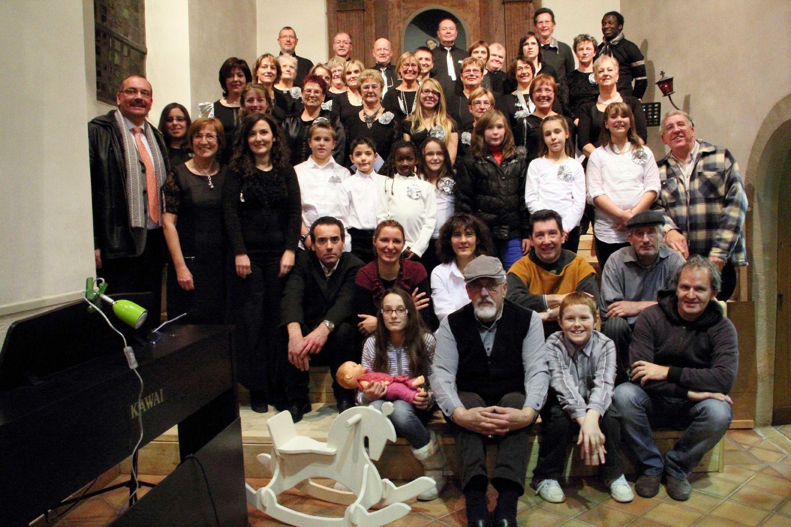 La troupe Not'en Vrac lors du spectacle 2012
