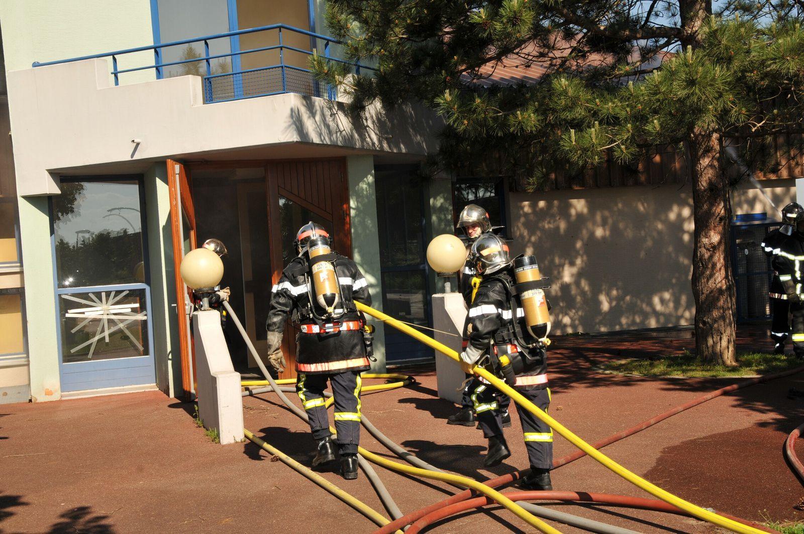 Exercice intercommunal des sapeurs-pompiers