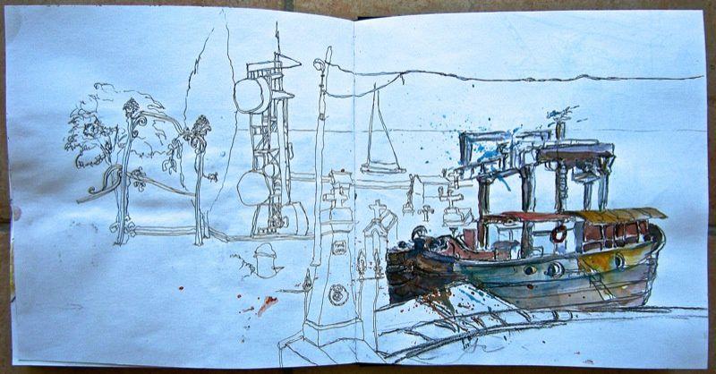 rencontres nationales urban sketchers france à Sète,7/8 juin 2014
