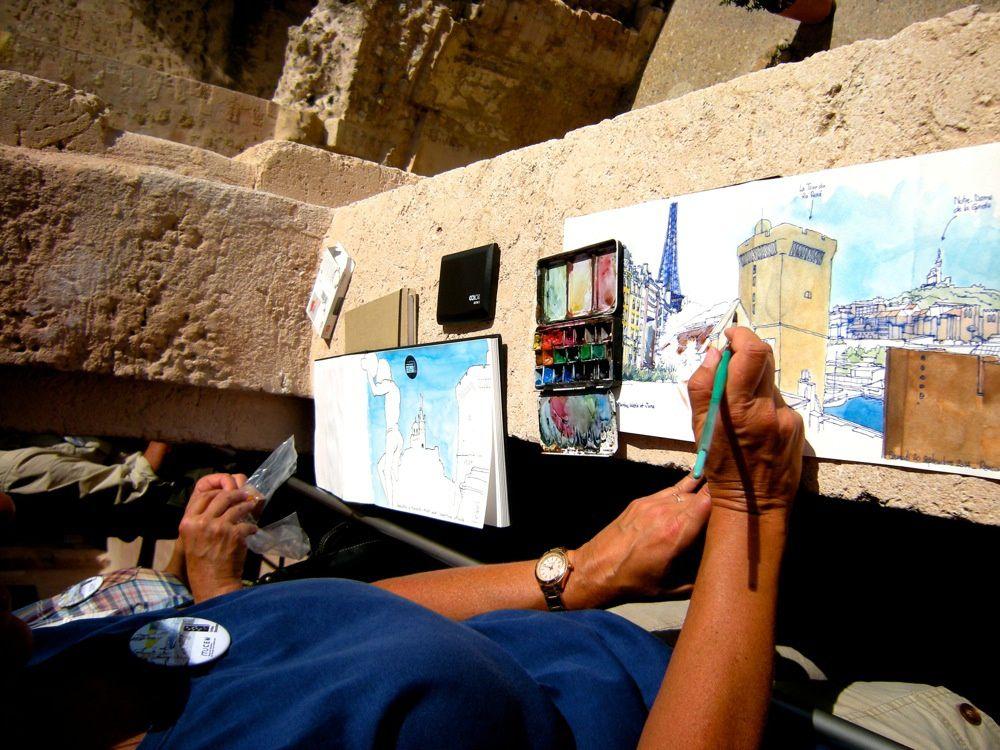 Rencontre Urban Sketchers et MuCEM pour les Journées Européennes du Patrimoine 2014