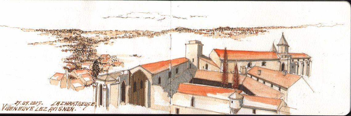 Aixcroquis à Villeneuve lez Avignon, le 26 septembre 2015