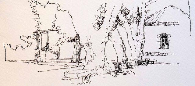 #52e Sketchcrawl au Pavillon Vendôme - Aix-en-Provence