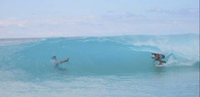 les vagues sont petites mais ...creuses