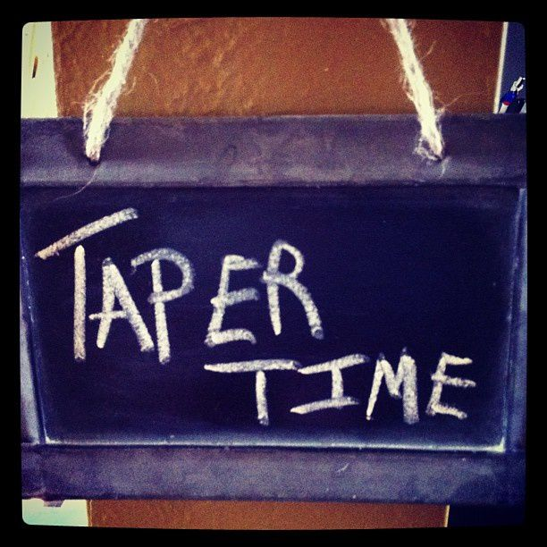It's Taper Time!
