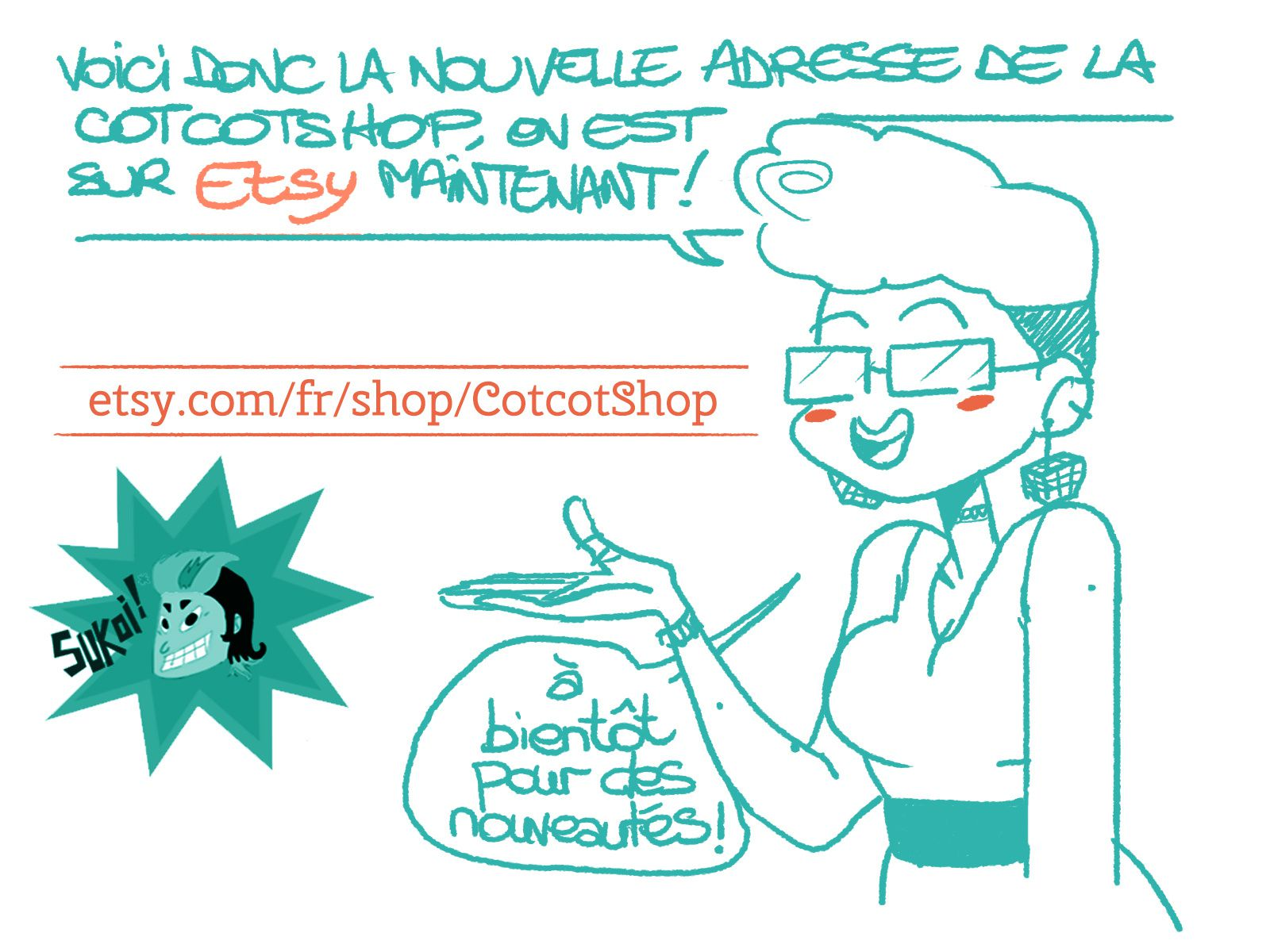 LE RETOUR DE LA COTCOTSHOP!!