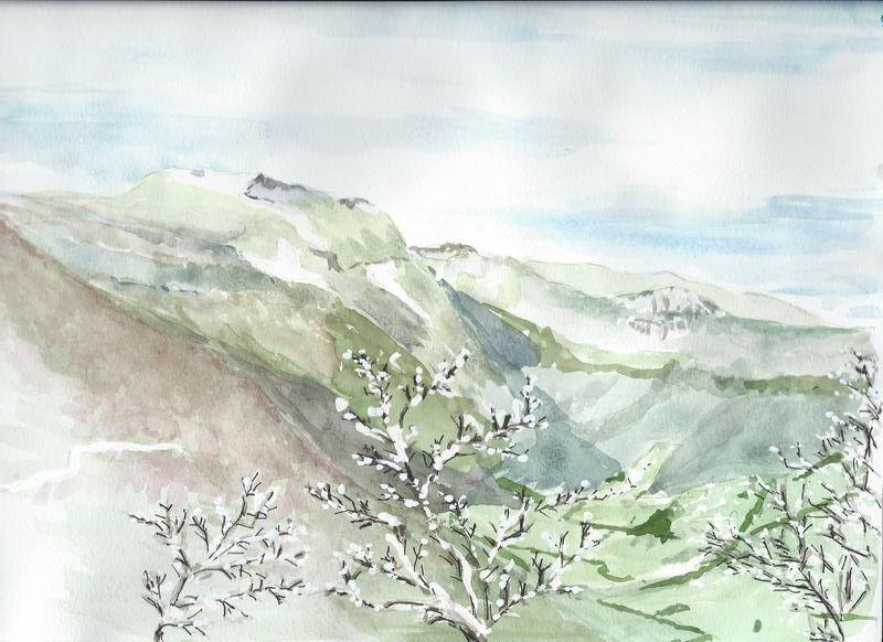 Le roc vu lors de la montée au Serre de Montué