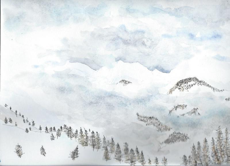 Cet hiver à puy Saint Vincent, mauvais temps, mais quelle belle neige!