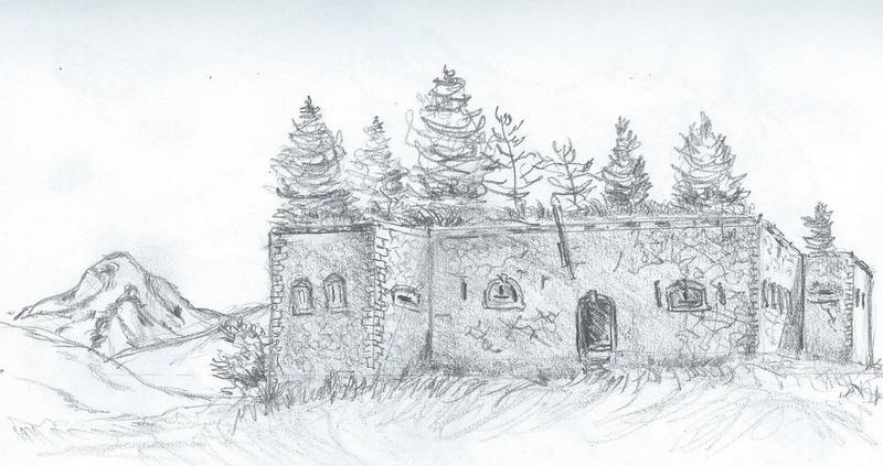 """Plus facile, ici le fort de Lauzette au dessus de Cervieres, fort de la génération """"Serré de Rivière"""", celle qui succédé à Vauban, et précédé la """"ligne Maginot"""""""