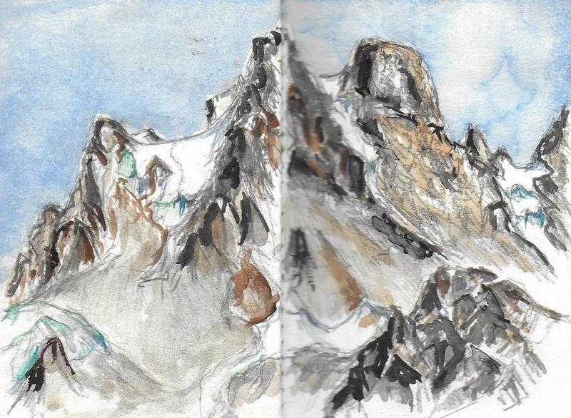 Le Pelvoux depuis le refuge du glacier Blanc