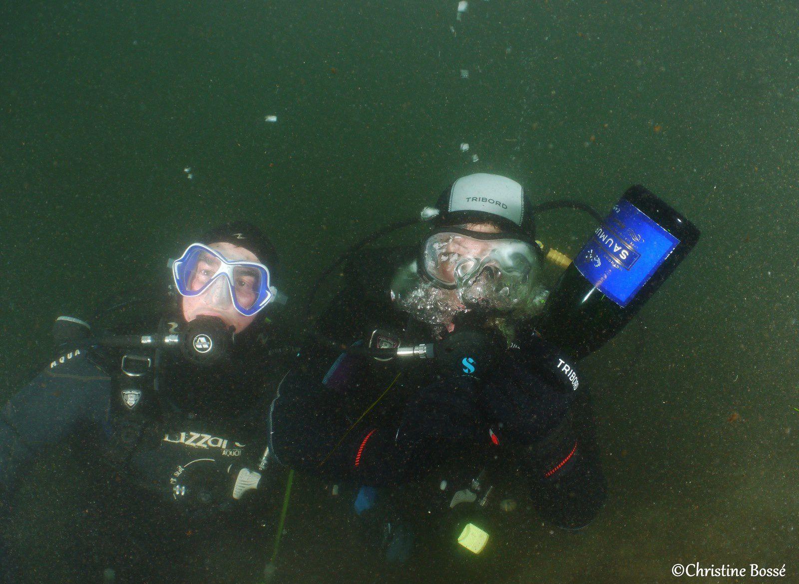 Bonne et heureuse année sous l'eau