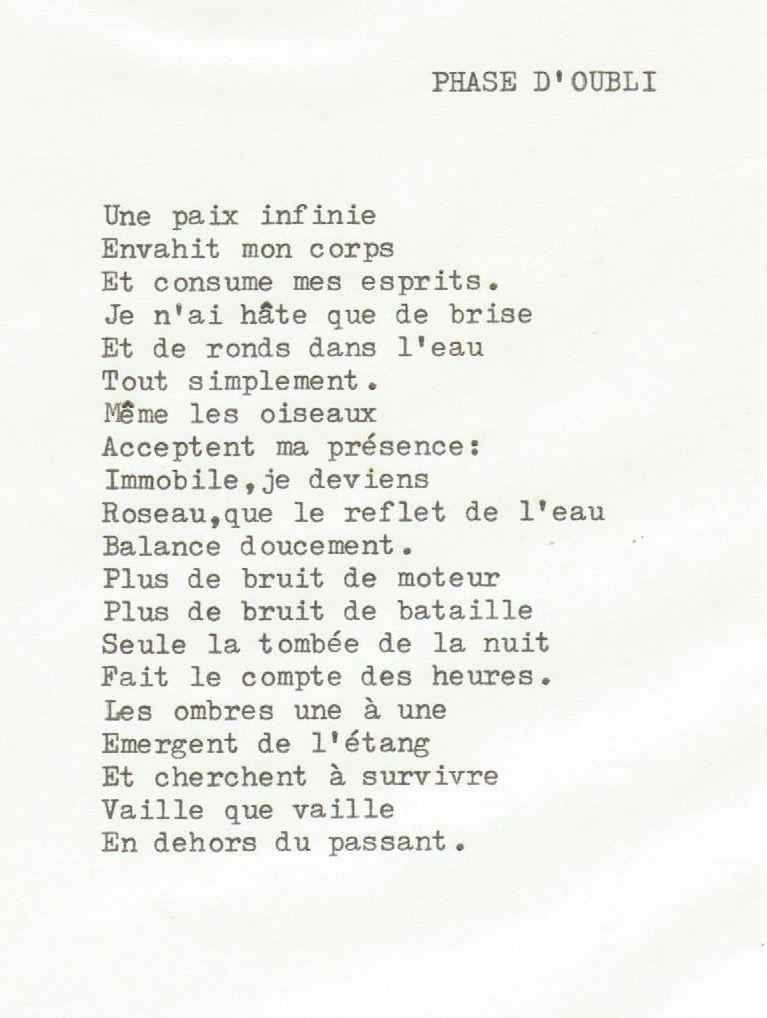 Poème et son dessin.