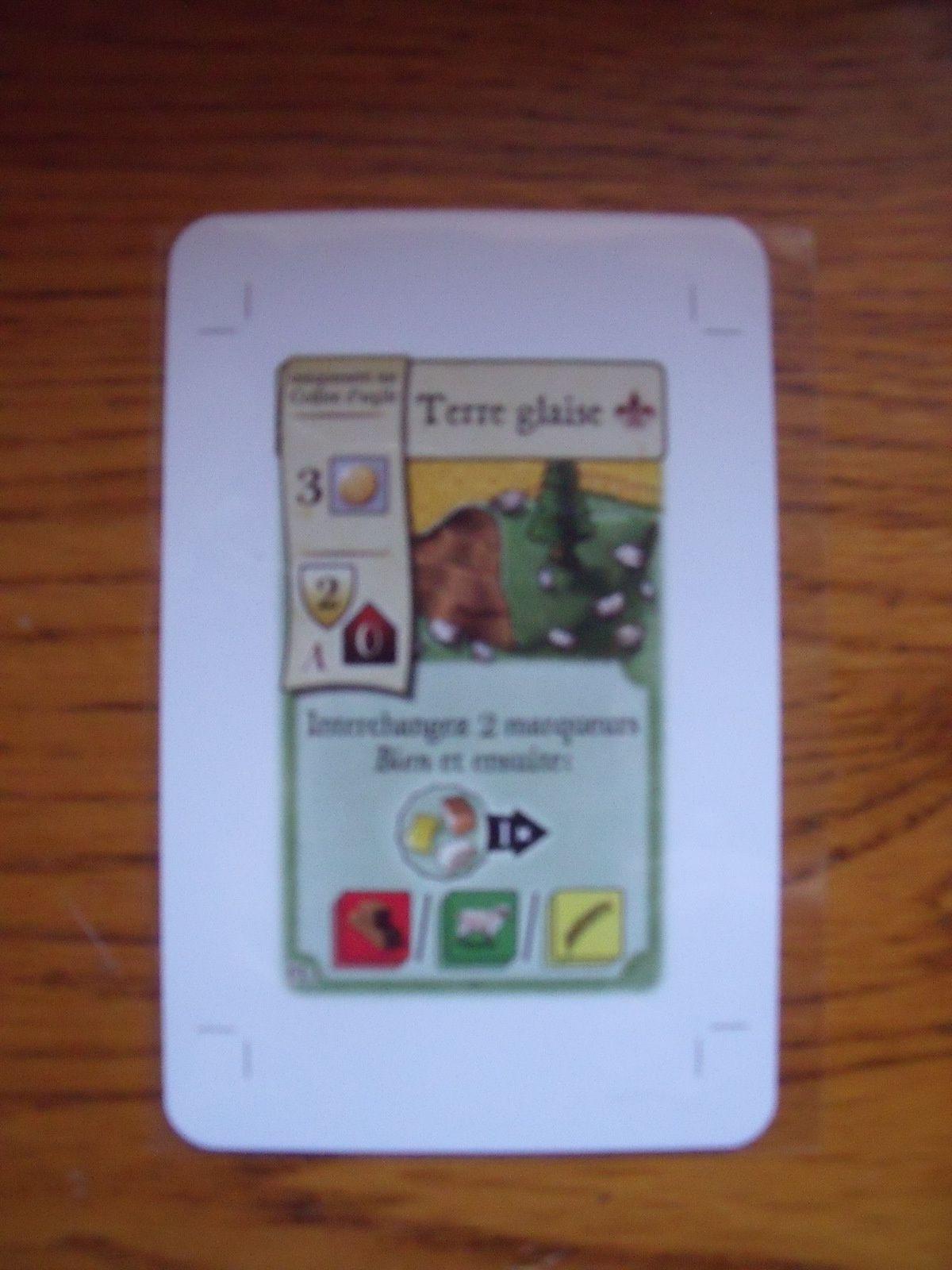 """... avec sa carte promotionnelle """"Terre Glaise"""""""