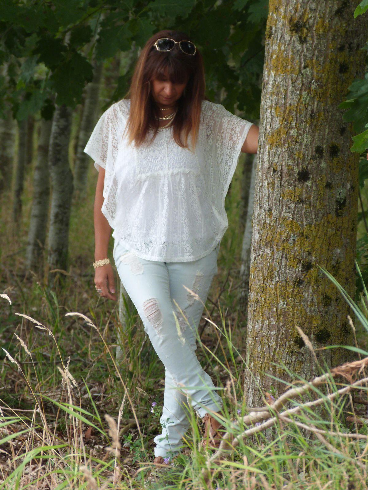 Jeans et dentelle...