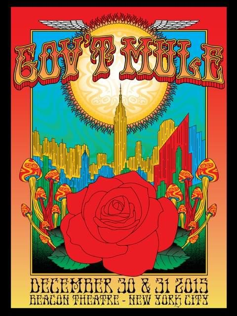 GOV'T MULE 31/12/2015 BEACON THEATRE NYC