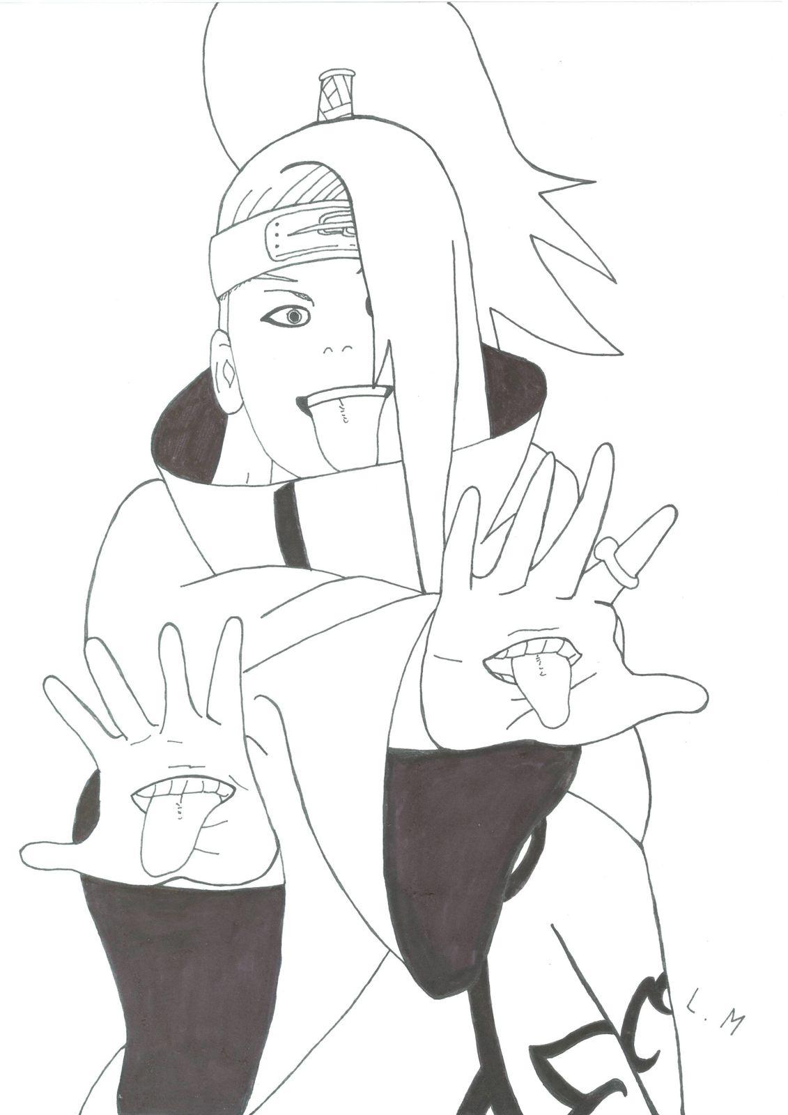 Naruto 6 Dessin De Deidara Lucas Art