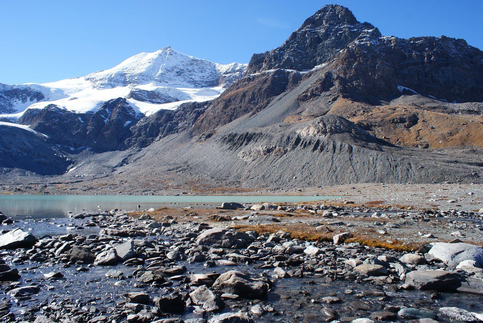 pic Regaud, l'Albaron et le glacier des Evettes.