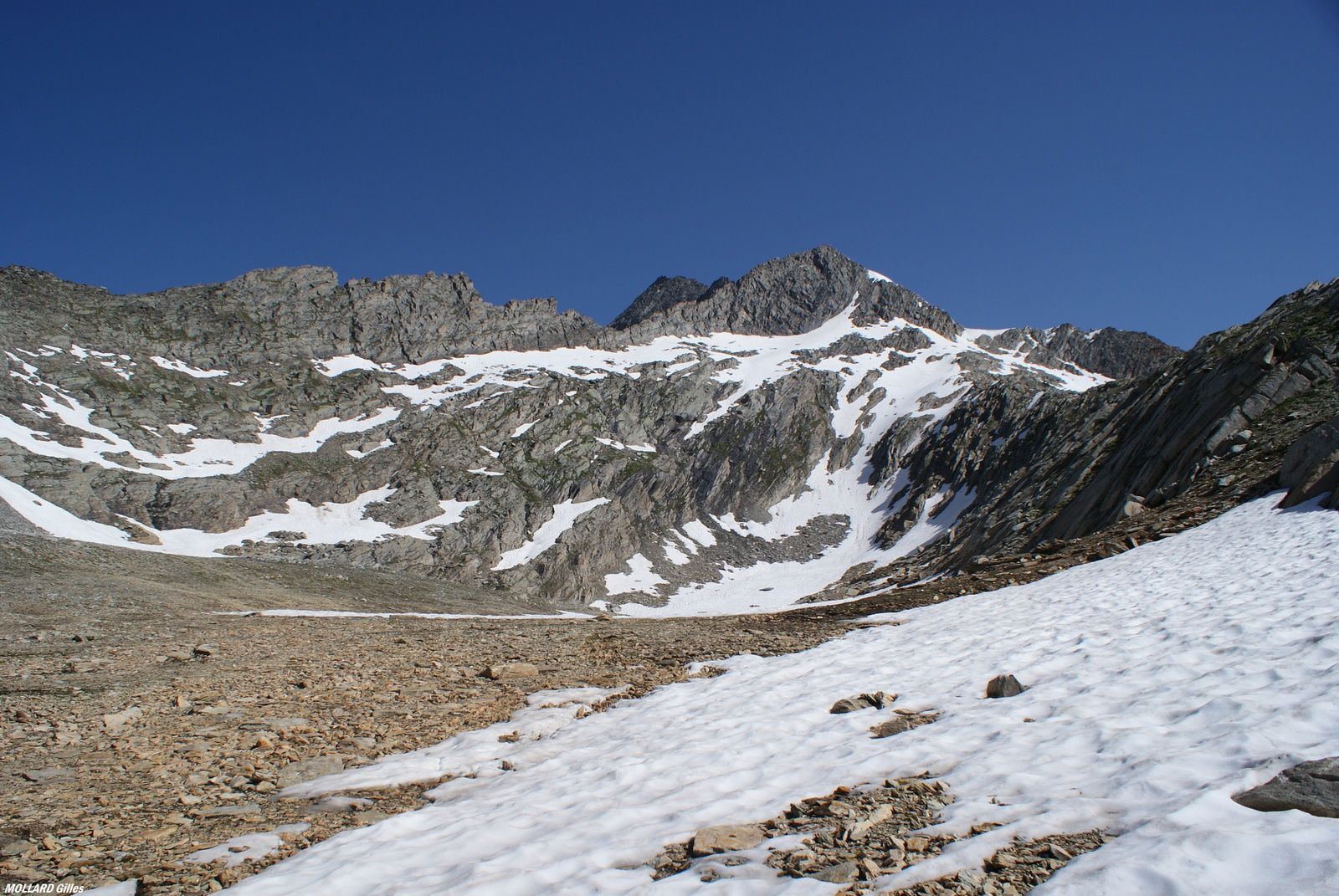 Grand roc et la pointe de l'Echelle 3422m